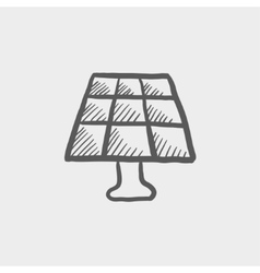 Lamp sketch icon vector