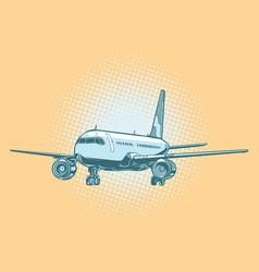 Landing of a passenger plane vector
