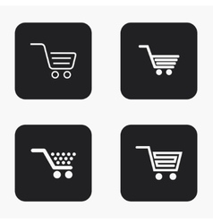 modern shopping icons set vector image