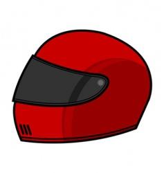 racing helmet vector image vector image