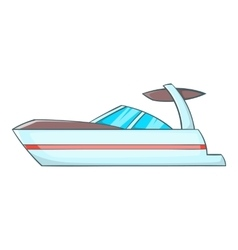 Sailing boat icon cartoon style vector