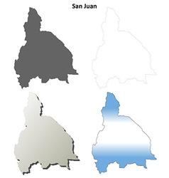 San juan blank outline map set vector