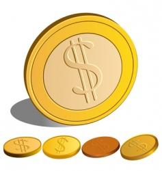 set of money dollar vector image