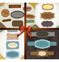 Set of retro ribbons vector image vector image