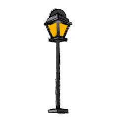 Street light lamp vector