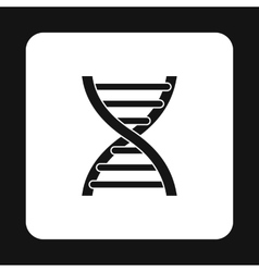 Dna icon in simple style vector