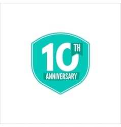 Anniversary badge isolated vector