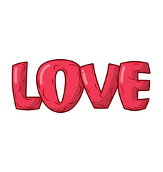 Love lettering isolated emblem for valentines day vector