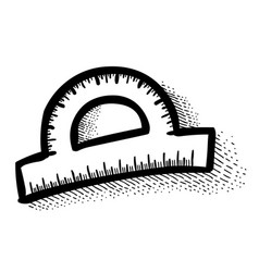 Cartoon image of protractor vector