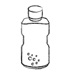 Plastic bottle isolated icon vector