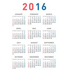 2016 modern calendar vector