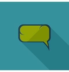 Flat Comic Speech Bubbl vector image