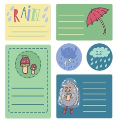 Summer rain sticker vector