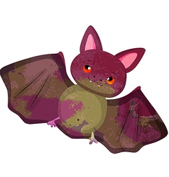 Watercolor bat isolated on white background vector