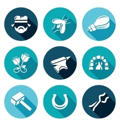 Forge icons set vector