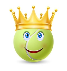Golden crown on ball for tennis vector