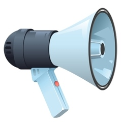 Modern electric horn speaker megaphone vector