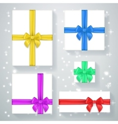 New Year gift box poster vector image