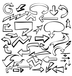 arrows set sketch vector image vector image