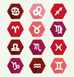 Astrology simbols in flat style vector
