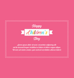 banner style childrens day collection vector image vector image