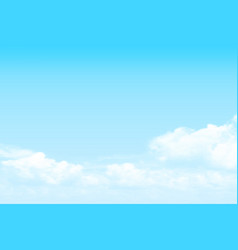 blue sky alto cumulus cloud background vector image vector image