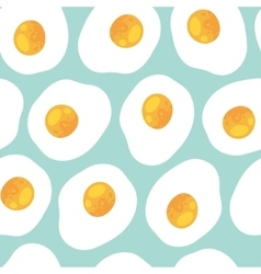 Breakfast seamless pattern with scrambled eggs vector image