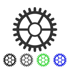 Clock wheel flat icon vector