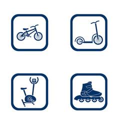 flat design icons sport set vector image vector image