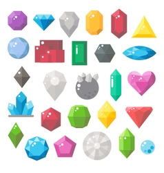 Flat design of gemstones set vector image