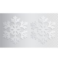 Glass transparent snowflake christmas vector