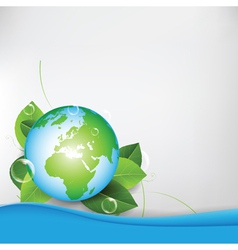 green eco globe background vector image