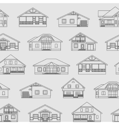 Houses linear pattern 1 vector image vector image
