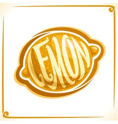 Logo for yellow lemon vector