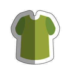 Male shirt isolated icon vector