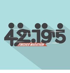 Marathon Finisher Typography Design vector image vector image