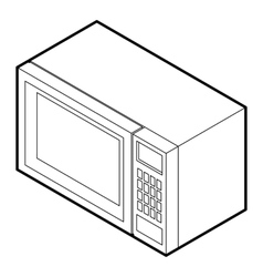 Microwave icon in outline style vector