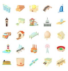 Operand icons set cartoon style vector