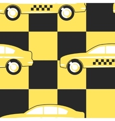Pattern Taxi Cab Symbol on Yellow - Black vector image