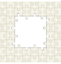 Puzzle frame background vector image