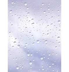 Raindrops trough window vector