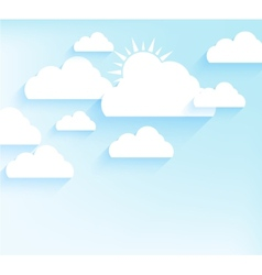 Sky background in flat style vector image