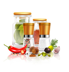 Spices 3d composition vector