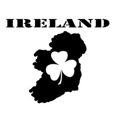 Symbol of ireland and maps vector