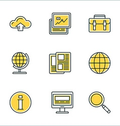 Thin Line Icon Set Icons for Website Mobile vector image