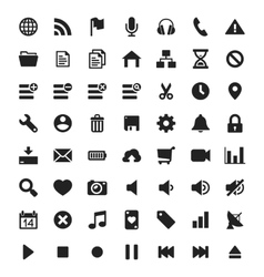 Universal interface and navigation icons vector image vector image