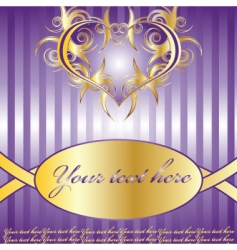 violet vector composition with heart vector image vector image