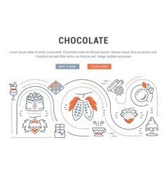 Website Banner and Landing Page Chocolate vector image vector image