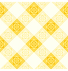 Yellow white flower diamond chessboard vector