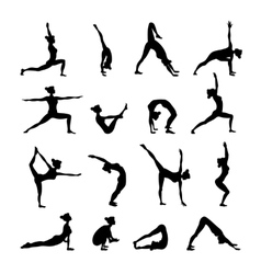 Yoga Set Black vector image